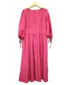 BLUE LABEL CRESTBRIDGE(ブルーレーベルクレストブリッジ)の古着「袖リボンワンピース」|ピンク