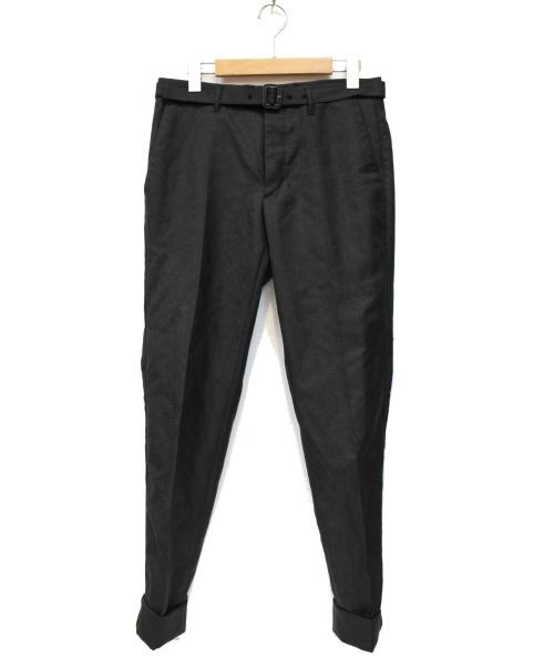 PRADA(プラダ)PRADA (プラダ) ベルト付センタープレスパンツ グレー サイズ:SIZE 44の古着・服飾アイテム