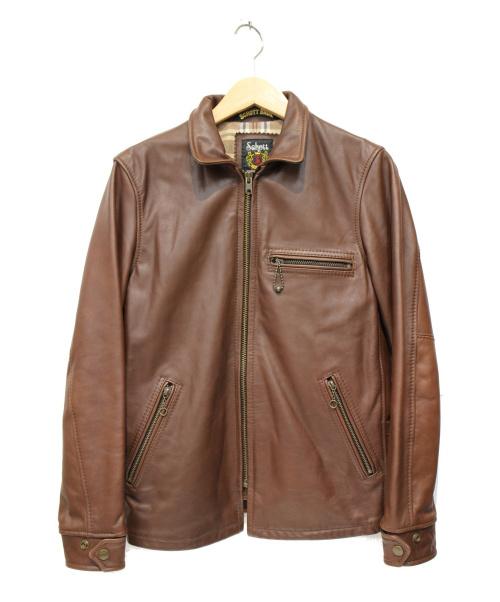 shott(ショット)shott (ショット) レザージャケット ブラウン サイズ:S 3131018の古着・服飾アイテム
