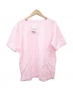 courreges(クレージュ)の古着「ロゴプリントTシャツ」|ピンク