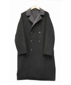 mizuiro-ind(ミズイロインド)の古着「リバーシブルシルク混ウールダブルコート」|ブラック