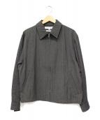 COMME des GARCONS SHIRT(コムデギャルソンシャツ)の古着「ニットスリーブ切替テープデザインスイングトップ」|グレー
