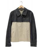 COMME des GARCONS HommePlus(コムデギャルソンオムプリュス)の古着「切替デザインデニムジャケット」|インディゴ