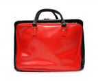 COMME des GARCONS HOMME(コムデギャルソンオム)の古着「塩化ビニール配色ビジネスバッグ」|ブラック×レッド