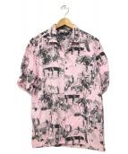COMME des GARCONS COMME des GARCONS(コムデギャルソンコムデギャルソン)の古着「総柄オープンカラーシャツ」|ピンク