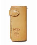 TED COMPANY(テッドカンパニー)の古着「レザー長財布」|ベージュ