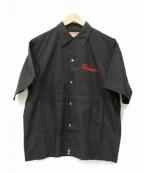 TED COMPANY(テッドカンパニー)の古着「半袖刺繍シャツ」 ブラック