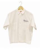 TED COMPANY(テッドカンパニー)の古着「刺繍半袖シャツ」|ホワイト