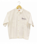 TED COMPANY(テッドカンパニー)の古着「刺繍半袖シャツ」 ホワイト