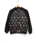 Lois CRAYON(ロイスクレヨン)の古着「刺繍ブルゾン」 ブラック