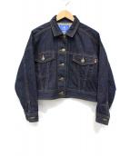 BLUE LABEL CRESTBRIDGE(ブルーレーベルクレストブリッジ)の古着「ショートデニムジャケット」 インディゴ