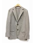 TOMORROW LAND PILGRIM(トゥモローランドピルグリム)の古着「ロロピアーナウールシルクテーラードジャケット」|グレー