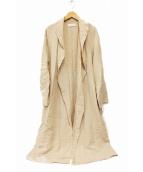 GALLARDA GALANTE(ガリャルダガランテ)の古着「ドレープリネンコート」|アイボリー