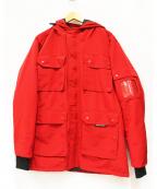 arnold palmer(アーノルドパーマー)の古着「吸湿発熱機能付き中綿マウンテンコート」|レッド
