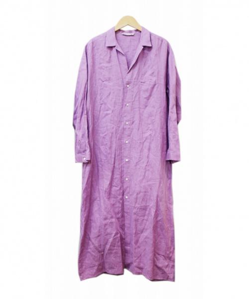 GALERIE VIE(ギャルリーヴィー)GALERIE VIE (ギャルリーヴィー) リネンシャツワンピース パープル サイズ:36の古着・服飾アイテム