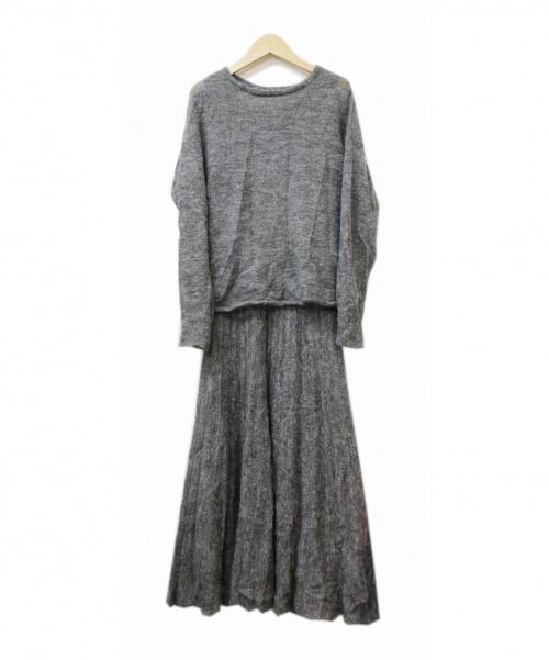 Mila Owen(ミラオーウェン)Mila Owen (ミラオーウェン) モヘアニットSETUP グレー 19AWの古着・服飾アイテム