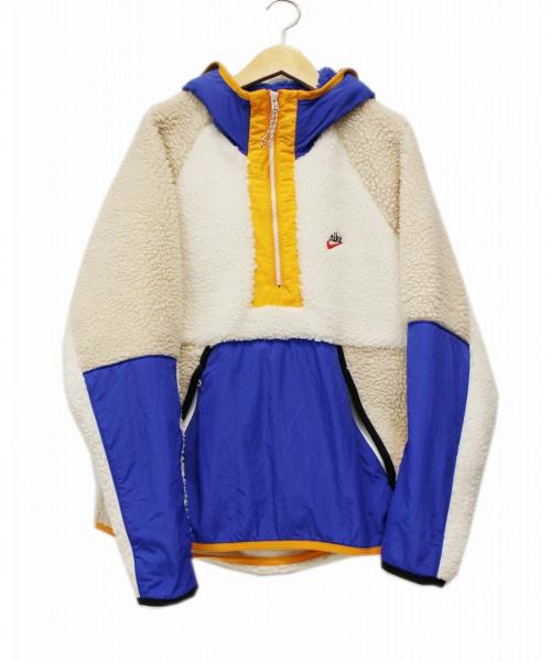 NIKE(ナイキ)NIKE (ナイキ) プルオーバーボアジャケット アイボリー サイズ:Mの古着・服飾アイテム