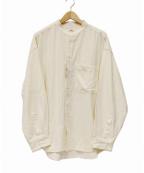 saby(サバイ)の古着「ネップ加工バンドカラーシャツ」 アイボリー