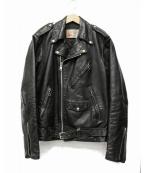 Sears(シアーズ)の古着「【古着】ダブルライダースジャケット」|ブラック