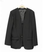 Vaporize(ヴェイパライズ)の古着「Collarless Jacket」 ブラック