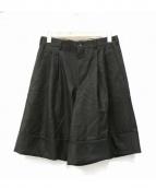 COMME des GARCONS HommePlus(コムデギャルソンオムプリュス)の古着「タックワイドウールショートパンツ」|ブラック