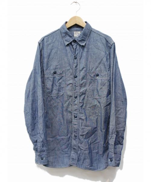 orSlow(オアスロウ)orSlow (オアスロウ) ワークシャツ ブルー サイズ:2の古着・服飾アイテム