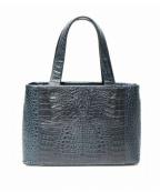 RODANIA(ロダニア)の古着「レザークロコトートバッグ」|グリーン