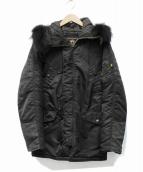 ALPHA(アルファ)の古着「別注切替N-3Bタイプコート」|ブラック