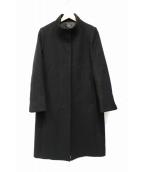 LAUTRE AMONT(ロートレアモン)の古着「ベーシックスタンドカラーコート」 ブラック
