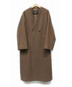 SLOBE IENA(スローブイエナ)の古着「Vネックオーバーコート」|ブラウン