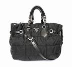 PRADA(プラダ)の古着「シワ加工キルティング2WAYショルダーバッグ」|ブラック