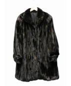 SAGA MINK(サガミンク)の古着「毛皮ファーコート」 ブラック
