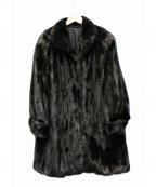 SAGA MINK(サガミンク)の古着「毛皮ファーコート」|ブラック