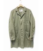 MHL(エムエイチエル)の古着「ショップコート」|カーキ