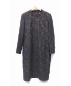LEILIAN(レリアン)の古着「刺繍ワンピース」|パープル