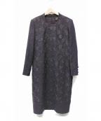 Leilian()の古着「刺繍ワンピース」|パープル