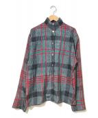 ()の古着「[OLD]チェックシャツ」 グレー×レッド