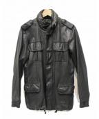 sisii(シシ)の古着「M-65レザージャケット」|ブラック