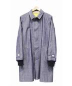 sacai(サカイ)の古着「カットオフボンディングコート」|インディゴ