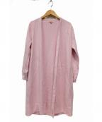 TOCCA(トッカ)の古着「CASHMEREロングカーディガン」|ピンク