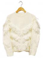 AKIRA NAKA(アキラ ナカ)の古着「フリンジニット」|ホワイト