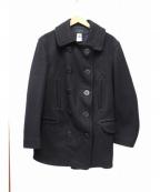 CORONA()の古着「カシミヤ混Pコート」 ネイビー