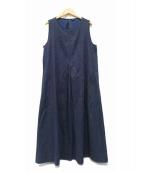 45R(フォーティファイブアール)の古着「インディゴピッケDRESS」|インディゴ