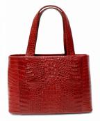 RODANIA(ロダニア)の古着「クロコダイルレザーハンドバッグ」|レッド
