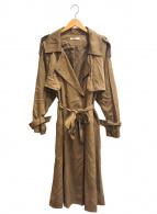 ()の古着「ルーズトレンチコート」 ブラウン