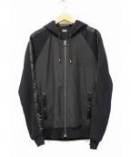 D&G(ドルチェ&ガッバーナ)の古着「ジップパーカー」|ブラック