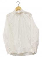 PHEENY(フィーニー)の古着「Stand collar frill tuck shirt」 ホワイト