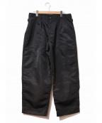 Y's for men(ワイズフォーメン)の古着「[OLD]ナイロンワイドカーゴパンツ」|ブラック