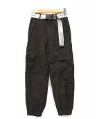 Calvin Klein Jeans(カルバンクラインジーンズ)の古着「ロゴベルテッドカーゴパンツ」 ブラック