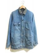 ()の古着「[古着]ブランケットデニムカバオールジャケット」 ブルー